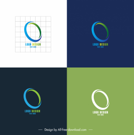 business logo template simple 3d circle sketch