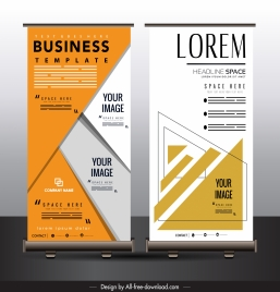 business poster standee roll up design geometric decor