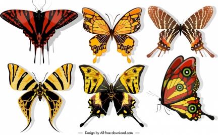 butterflies icons dark colors blend decor