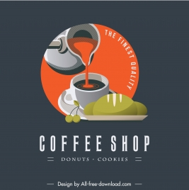 cafe shop logotype motion design colorful classic