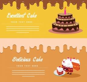 cake advertising templates liquid melting decoration