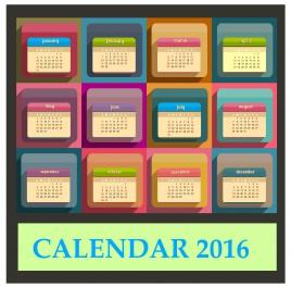 calendar 2016 template