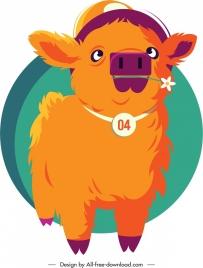 calf animal icon cute cartoon sketch