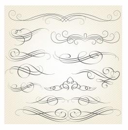 Calligraphy Swirls