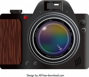 camera icon closeup classical design