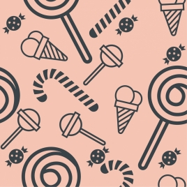 candies background flat repeating design