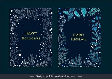 car border templates dark design elegant classic leaves