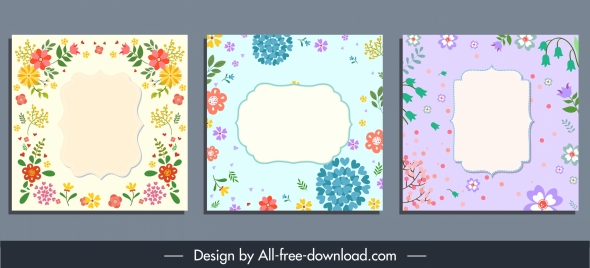 card background templates colorful elegant classic floral decor