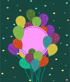 card cover background colorful balloons decoration