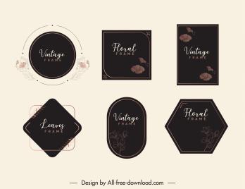 card decor templates elegant dark design botanical decor