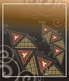 card with ethnic touch of batik