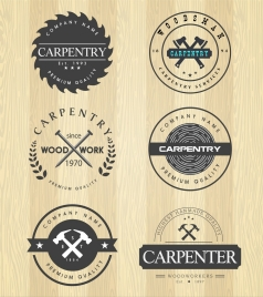 carpenter stamps sets various circles isolation