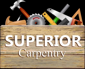 carpentry advertising background colored tools decoration