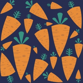 carrot background dark flat design repeating icons