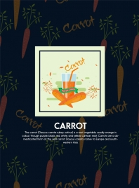 carrot background repeating decoration juice glass icon