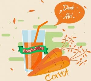carrot juice advertisement retro orange design