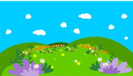 Cartoon Background with flowers