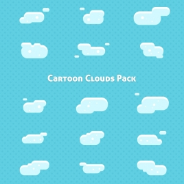cartoon clouds pack