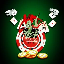 casino background colorful 3d decoration cubes devil icons