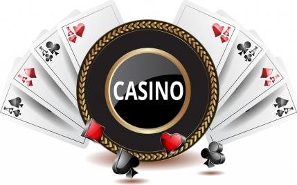 casino background shiny 3d decoration cards icons