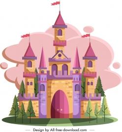 castle painting classical colorful decor