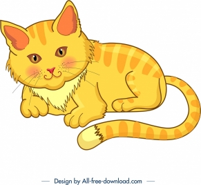 cat icon colored cartoon character design