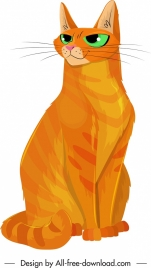 cat painting orange fur classical handdrawn sketch