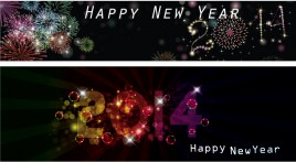 celebration banners - Happy new year 2014