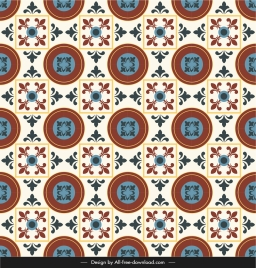 ceramic tile pattern template colorful repeating symmetrical retro
