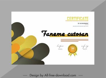 certificate template elegant bright plain decor