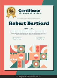 certificate template elegant geometric abstraction decor