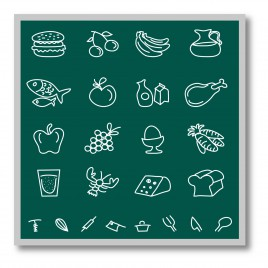 Chalkboard food icons