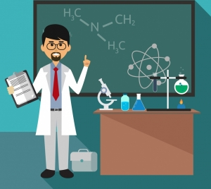chemistry class background teacher tools chalkboard icons