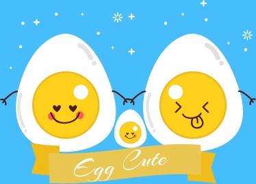 chicken eggs background cute stylized cartoon decor
