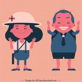 childhood painting schoolchildren icon cartoon character sketch