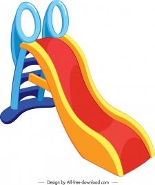 children chute icon modern colorful 3d design