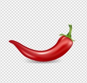 chili background shiny realistic red design