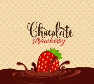 chocolate cake background dipped strawberry icon decoration