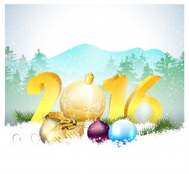 christmas and happy new year 2016