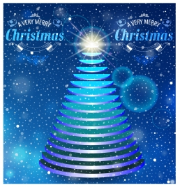 christmas background design with abstract twinkling fir tree