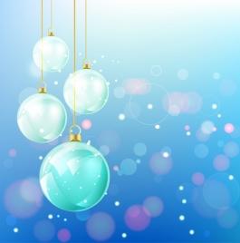 christmas background shiny colorful sparkling baubles bokeh design