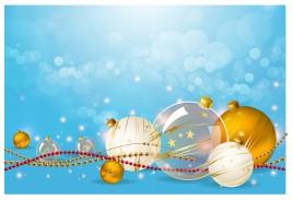 christmas ball decoration on aqua background