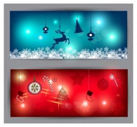 christmas banner illustration