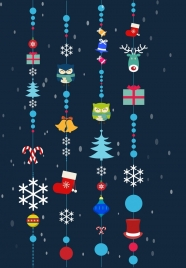 christmas decoration background colorful hanging baubles style