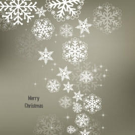 christmas design background with sparkling snowflakes