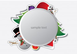 christmas design with coppy space
