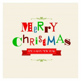 Christmas Greetings with Funky Letters