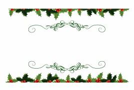 Christmas Holly Top And Bottom