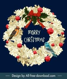 christmas wreath template colorful elegant classical decor