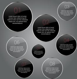 circular infographic design shiny flat round design